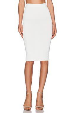 Central Park West Fresno Pencil Skirt in Ivory