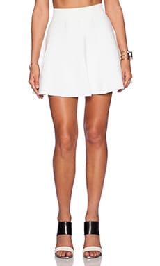 Central Park West Skater Skirt in White