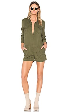 Santa Cruz Romper in Army Green