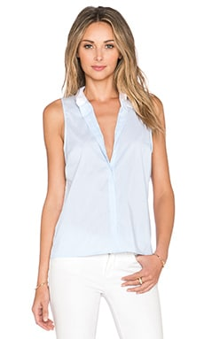 Central Park West Bodrum Layered Stripe Tank in Blue Stripe
