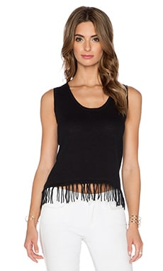 Central Park West Sadrinia Fringe Tank in Black