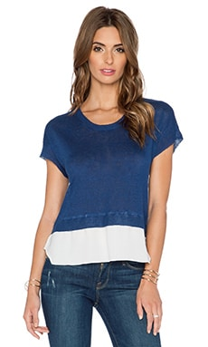 Central Park West Lisbon Sheer Bottom Top in Navy