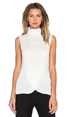 Central Park West Tacoma Turtleneck Sweater Tank in Ivory