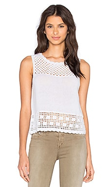 Central Park West Crochet Tank in White