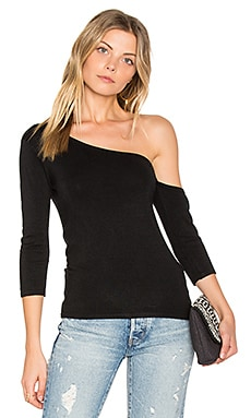 Madison One Shoulder Top in Black