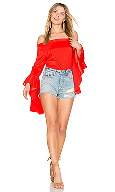 L.A Off Shoulder Top in Red