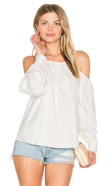 L.A. Cold Shoulder Blouse in White