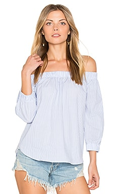 Palm Beach Off Shoulder Top in Stripe