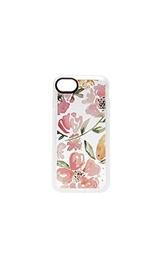 Floral Pink Gray iPhone 7 Case in Clear