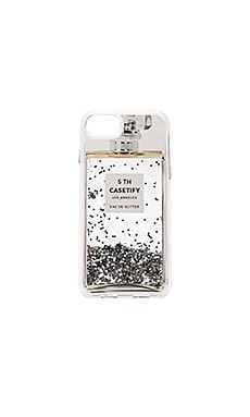 Miss Perfume iPhone 7 Glitter Case in Silver Holographic