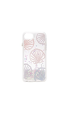 Seashell Scape iPhone 7 Glitter Case in Blue Pastel