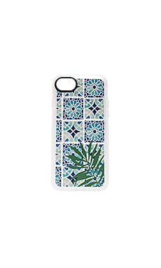 Tropical Leave Moroccan Tiles iPhone 7 Case in Clear