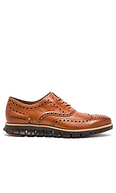 Cole Haan Zerogrand Wing Ox in British Tan Chestnut