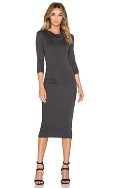 CHARLI Malou Dress in Charcoal
