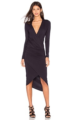 CHARLI Cassie Wrap Dress in Carbon