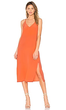 Maelle V Neck Maxi Dress in Orange Coral