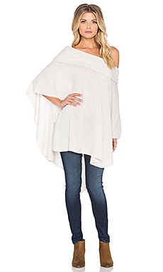 CHARLI Firenze Poncho in Bone