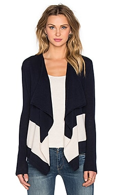 CHARLI Christy Cashmere Cardigan in Navy & Beige