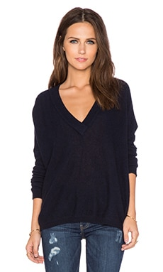 CHARLI Carys Cashmere Sweater in Navy Melange