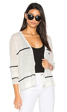 Antonella Stripe Cardigan in Ivory & Navy Stripe