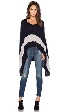CHARLI Rye Poncho in Navy Body