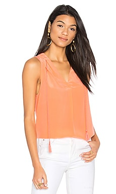 Malena V Neck Tank in Orange Coral