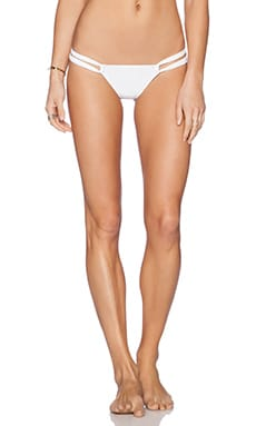 Charlie by Matthew Zink Paulina Lowrise Bikini Bottom in White