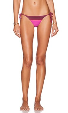 Charlie String Bikini Bottom in Berry Scarf