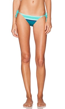 Charlie String Bikini Bottom in Aqua Scarf