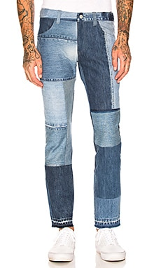 Vintage Patch Denim Pants