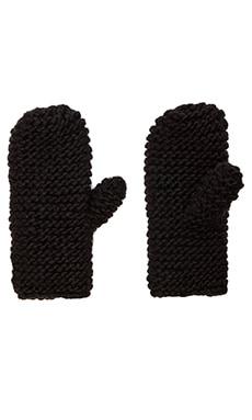 Cheap Monday Diagonal Mittens in Black