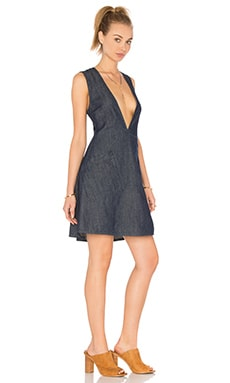 Cheap Monday Code Denim Dress in Rinse Wash