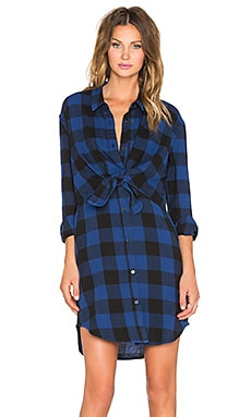 Cheap Monday Flannel Dress in Night Blue Check