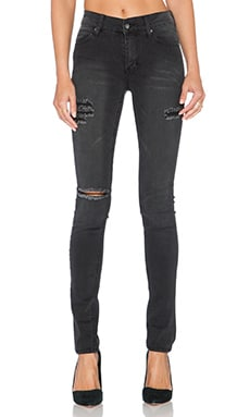 Cheap Monday Tight Skinny in Posted Worn Black