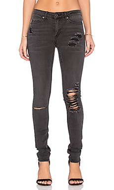 Cheap Monday Prime Jean in Torn Black
