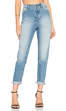 Donna High Waist Jean in Dash Blue