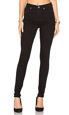 High Snap Skinny Jean en Black Coal