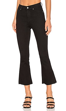 JEANS CROPPED FLARE KICK SPRAY