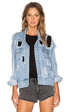 Cheap Monday Slouchy Denim Jacket in Torn Apart