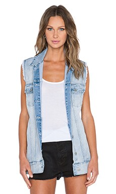 Cheap Monday Slouchy Denim Vest in Mile Blue