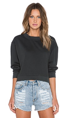Cheap Monday Expand Zip Sweatshirt in Used Black