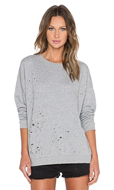 Cheap Monday Fray Sweatshirt in Pre Grey Melange