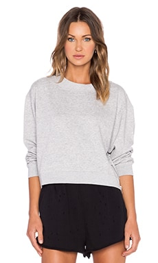 Cheap Monday Side Zip Sweatshirt in Grey Melange