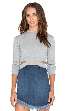 Cheap Monday Alpha Sweatshirt in Grey Melange
