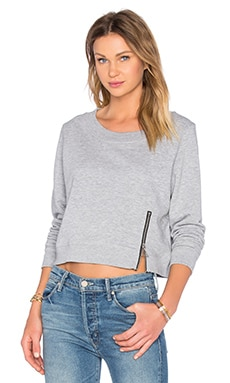 Cheap Monday Exact Zip Sweatshirt in Grey Melange