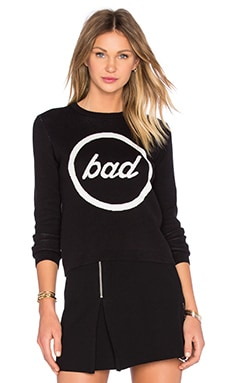 Total Knit Sweatshirt in Black