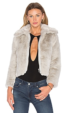 Pace Faux Fur Jacket in White