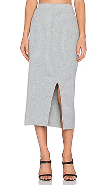 Cheap Monday Rive Knit Skirt in Grey Melange