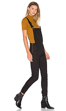 Dungaree Overall in New Black