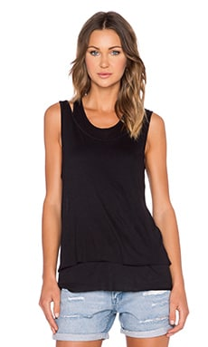 Cheap Monday Twice Tank in Black